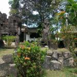 Garten mit Bungalows