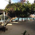 Uitzicht vanaf mijn cabana