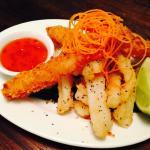 Coconut prawn and Calamari
