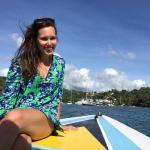 Visiting Marigot Bay on Solomon's boat