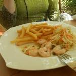 Grilled shrimp dinner