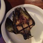 perfectly grilled artichoke!