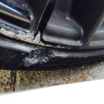 valet damaged tire
