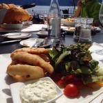 Eglifilet gebacken mit Salat