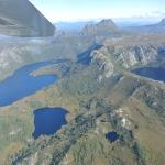 High level view of Cradle Mtn, Dove, Lilla and Crater Lakes