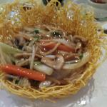Vegetable Chow Mein with Crispy Noodles