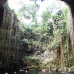 Cenote Ik Kil, looking up from the bottom