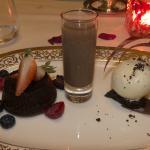 Dessert (Chocolate Fondants with Condensed Milk Ice-Cream)