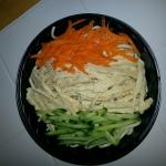 Not only does the noodle salad taste great, it is also artfully arranged!