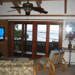 view from living area to snorkeling cove
