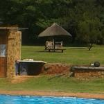 The pool area with individual braai areas