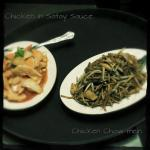 Chicken in Satay Sauce and Chicken Chow Mein