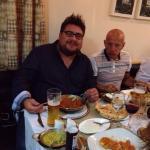 Steve enjoying his curry