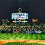 Night game at Dodger Stadium