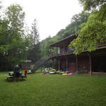 cabin facing river