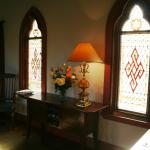 Stained glass windows in the Chapel Suite