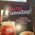 Ruby Tuesday - menu