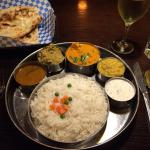 Wonderful Thali plate offers great variety at a bargain!  Their Suli Indian chenin blanc is deli