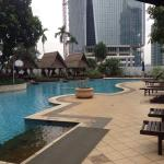 the lovely pool near gym area at level 5