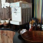 Pop and I cream machines. Free refill!!