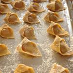 Homemade tortelli