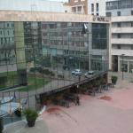 Vista a la plaza desde la habitación 318