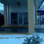 On a Snowy Day at Odessa Motor Inn