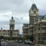 Dunedin Railway Station and Courthouse, Dunedin, New Zealand