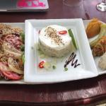 Tartare de Tazard à la crème citronnée - légumes pays, salade