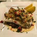 crab stuffed halibut