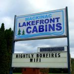Entrance to Mackinac Lakefront Cabin Rentals