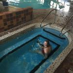 My daughter in the hot tub