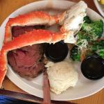 Surf and Turf ~ steak with Alaskan Crab legs... so so tasty!