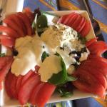 Chevre salad with awesome dressing!