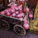 A wagon full of giant jingle bells at Curious Cargo in Geneseo, IL