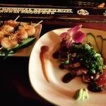 Coconut Shrimp and Ahi Tuna