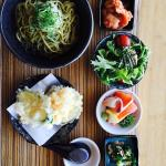One of our lunch trays with Green Tea soba noodles