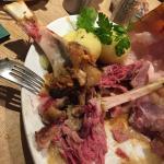 De overblijfselen van de Haxe, zeer mals vlees