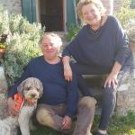 HelenさんとGiancarloさん、愛犬Franco