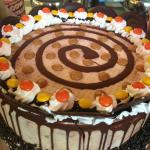 Reeses Pieces Ice Cream Cake
