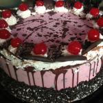 Cherry Chocolate Chip Ice Cream Cakes