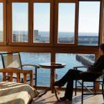 Viendo el puerto de Getaria desde la habitación