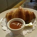 Freshly made croissant