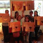 Our group had a blast at the paint and sip.