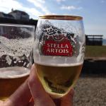 Enjoying a pint!