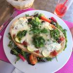 Brunchetta Grogonzola, poitrine, un délice !!! Et ces belles couleurs !!!