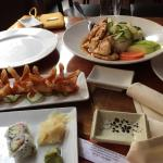 Very delicious food! California roll,wonton soup, chicken teriyaki and the crap wontons were gre