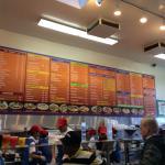 Elaborate menu
