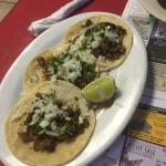3 tacos for $5. The beef tongue was the best of the 3 but they were all good.