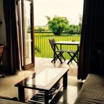 room on 2nd floor. view of rice fields